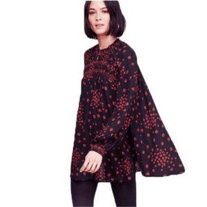 FREE PEOPLE Flowers In Her Hair Black Tunic NWT XS